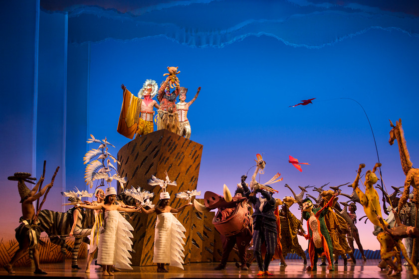 "Shanghai Disneyland proudly presents the first-ever Mandarin stage production of the Broadway hit, THE LION KING. Guests can celebrate the ""Circle of Life"" during one of the most popular and acclaimed musicals of all time at the lavish 1,200-seat Walt Disney Grand Theatre in Disneytown. With breathtaking choreography, costumes, makeup and staging that transport guests to the African savanna and back, THE LION KING is more than entertainment—it's an adventure. (Disney Theatrical Group)"